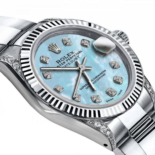 Rolex Rolex Baby Blue Pearl 31mm Datejust SS & 18K Gold Bezel With Diamond Image 1