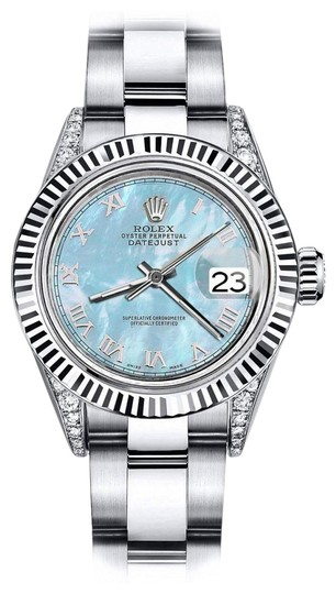 Preload https://img-static.tradesy.com/item/24139072/rolex-stainless-steel-baby-blue-pearl-roman-31mm-datejust-ss-and-18k-bezel-with-diamond-watch-0-1-540-540.jpg