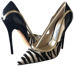 Jimmy Choo Black, Gold, White Pumps