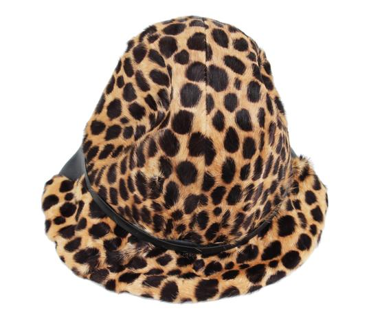 Belmar Leopard and Leather Hat Image 1
