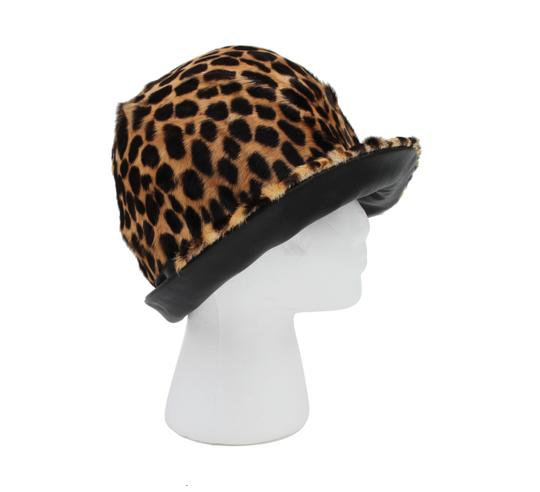 Belmar Leopard and Leather Hat Image 4
