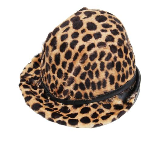 Belmar Leopard and Leather Hat Image 5