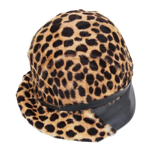 Belmar Leopard and Leather Hat Image 6