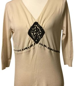 August Silk Top Cream and Black