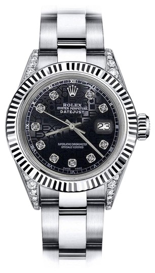 Preload https://img-static.tradesy.com/item/24139090/rolex-stainless-steel-black-logo-31mm-datejust-18k-ss-with-diamond-shoulders-oyster-watch-0-1-540-540.jpg