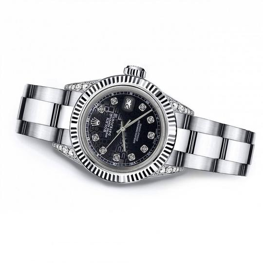 Rolex Rolex Black Logo 31mm Datejust 18K / SS With Diamond Shoulders Oyster Image 2