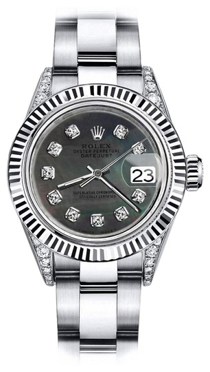 Preload https://img-static.tradesy.com/item/24139121/rolex-stainless-steel-black-pearl-roman-31mm-datejust-ss-and-18k-gold-bezel-with-diamond-watch-0-1-540-540.jpg