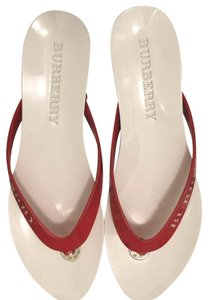 Burberry white/red Sandals