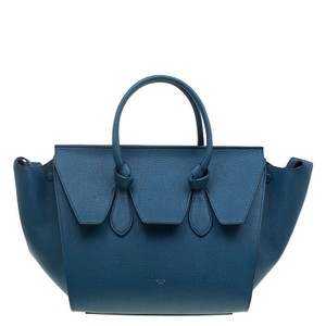 Céline Calfskin Leather Expandable Tote in Blue