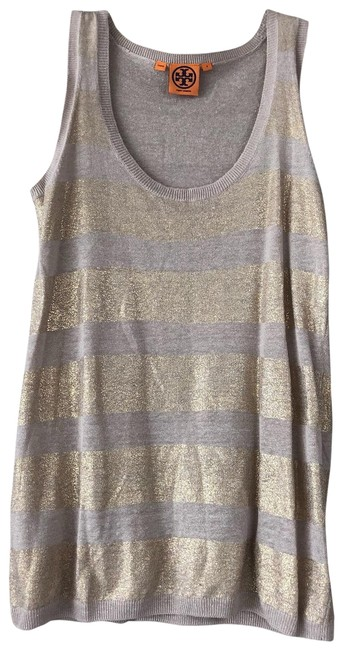 Item - Nude with Gold Stripes Tank Top/Cami Size 4 (S)