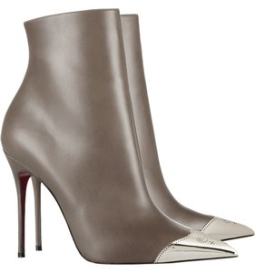 Christian Louboutin Gray Leather Cap Toe Grey Boots