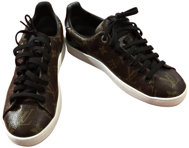 Item - Brown and Gold Frontrow Sneakers Size EU 37 (Approx. US 7) Regular (M, B)