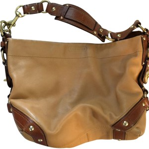 c71054ff89 Added to Shopping Bag. Coach Shoulder Bag. Coach Carly Hobo Camel Leather  ...