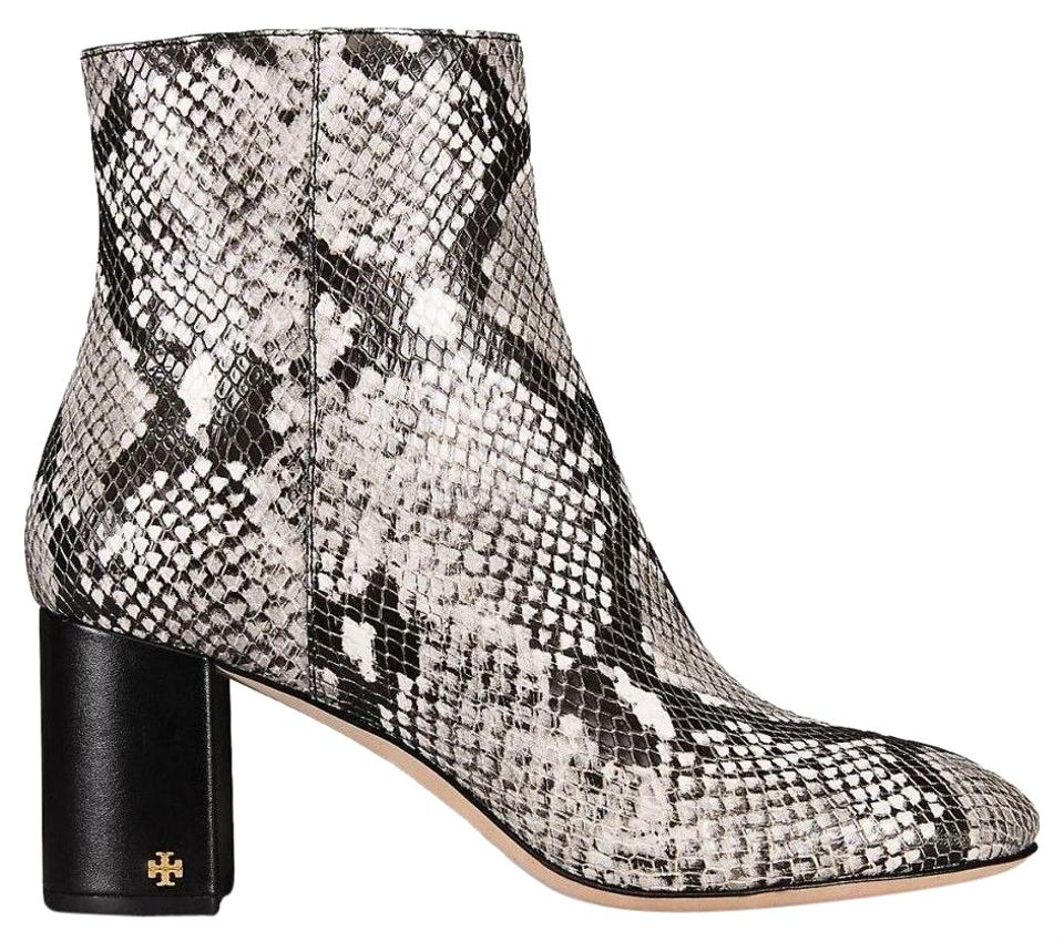 e9603e59225 Tory Burch Black Snakeskin Box New Leather Ankle Boots/Booties Size US 7  Regular (M, B)