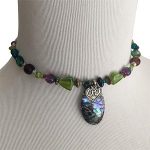 Acorn Glass Bead Choker