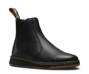 Dr. Martens Leather Fall Black Boots