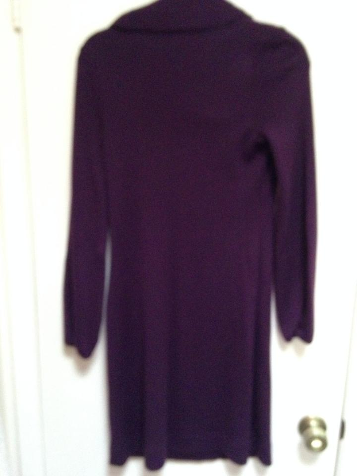 free delivery complete range of articles biggest discount Banana Republic Plum/Dark Purple Cowl Neck Sweater Mid-length Work/Office  Dress Size 6 (S)