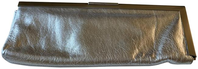 Item - Silver Leather Clutch