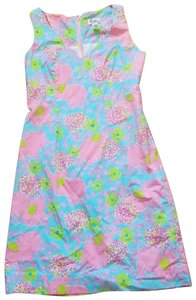 Lilly Pulitzer short dress blue and pink on Tradesy