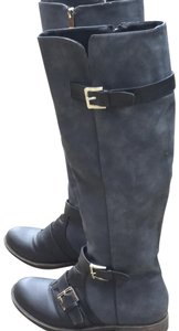 Eddie Marc Black and Grey Boots