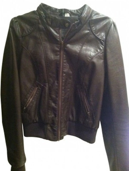 Preload https://item1.tradesy.com/images/h-and-m-brown-shiny-leather-like-material-motorcycle-jacket-size-12-l-24140-0-0.jpg?width=400&height=650