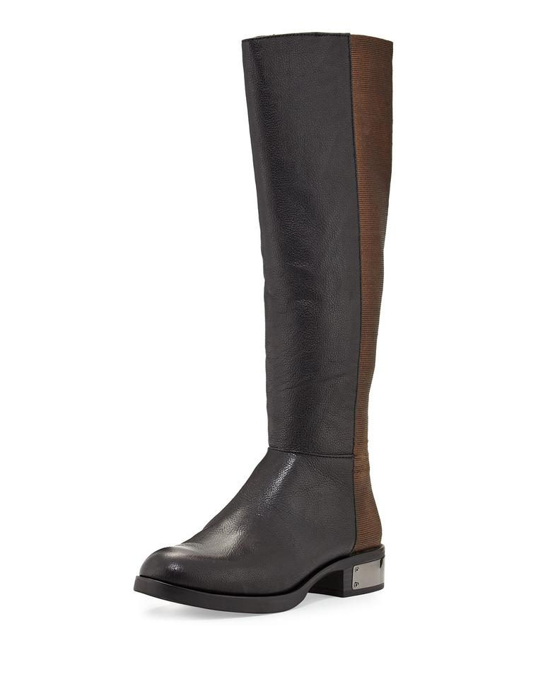 98fb9245e8311 Circus by Sam Edelman Black   Copper Roxie Leather Gored Mid-calf Riding  Boots Booties