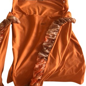 Roccobarocco Top orange beige brown