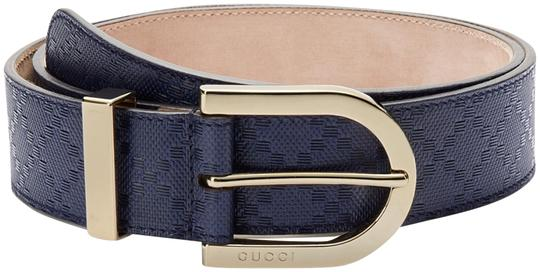 9cf73f05a74 gucci navy blue women men diamante leather w gold buckle size 36 belt 43%  off retail. TRADESY