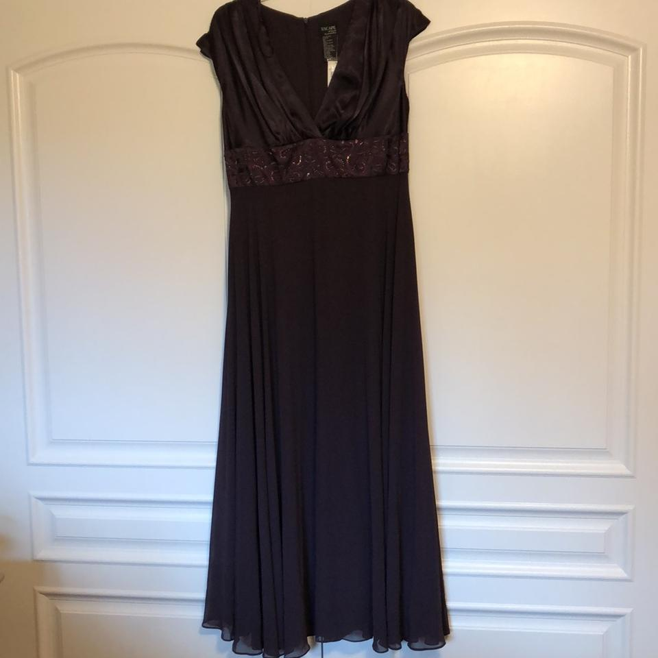 Xscape Plum Polyester Evening Gown. Formal Bridesmaid/Mob Dress Size ...