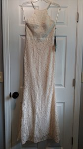 Cream Lace Gown Casual Wedding Dress Size 4 (S)
