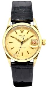 Rolex Vintage Rolex Oyster Date 6466 Gold Plated Mens Watch