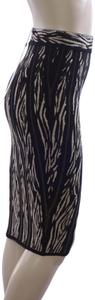 Torn by Ronny Kobo Zebra Print Pencil Jacquard Stretchy Skirt Safari