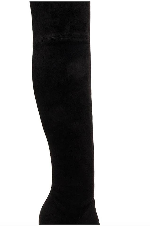 fec46c4342f Kendall + Kylie Black Ayla Ii Velvet Thigh High Boots Booties Size ...
