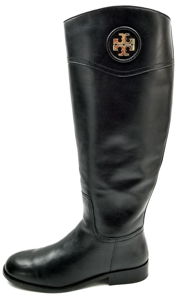 897cafdfc12358 Tory Burch Black  ashlynn  Riding Boots Booties Size US 8.5 Regular ...