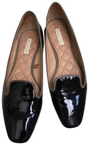 Massimo Dutti Gloss Metallic Dark navy Flats
