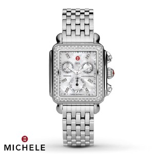 Michele New Deco Mother of Pearl Diamond Dial MWW06P000099