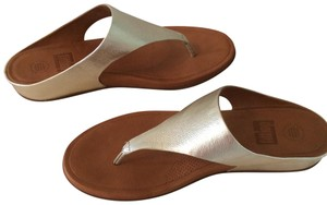 FitFlop Leather Gold Sandals