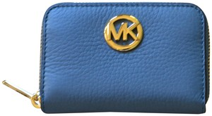 Michael Kors Michael Kors Fulton Zip Around Coin Case Denim