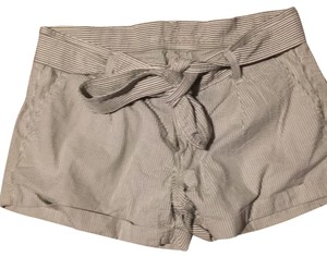 7 For All Mankind Cuffed Shorts beige olive