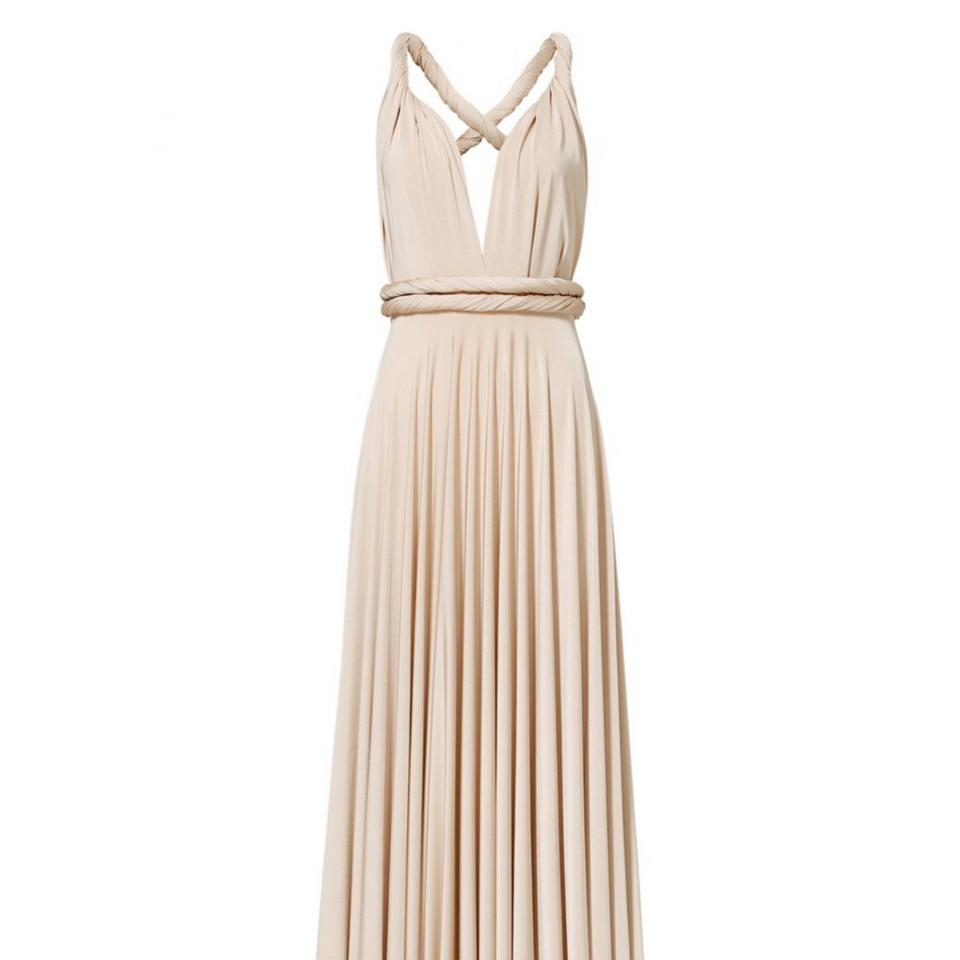 8a48938c1179 Twobirds Nude Oyster Convertible Long Formal Dress Size OS (one size ...