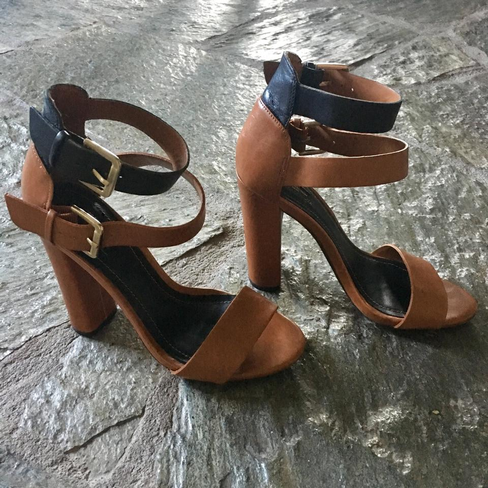 Tan Size Retail Sandals Leather And Brown Strap Heel Double Pumps Us Black High Zara Buckle RegularmB29Off 6 rCxBdeo