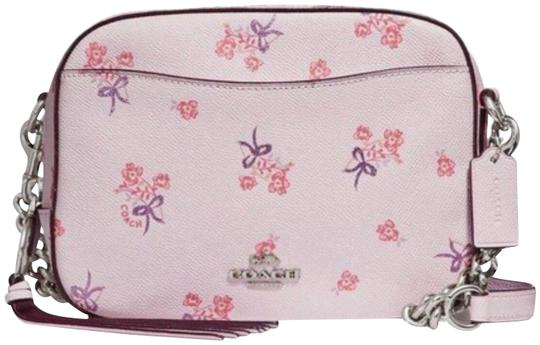 New Floral Bow Print 29347 Ice Pink Leather Cross Body Bag by Coach