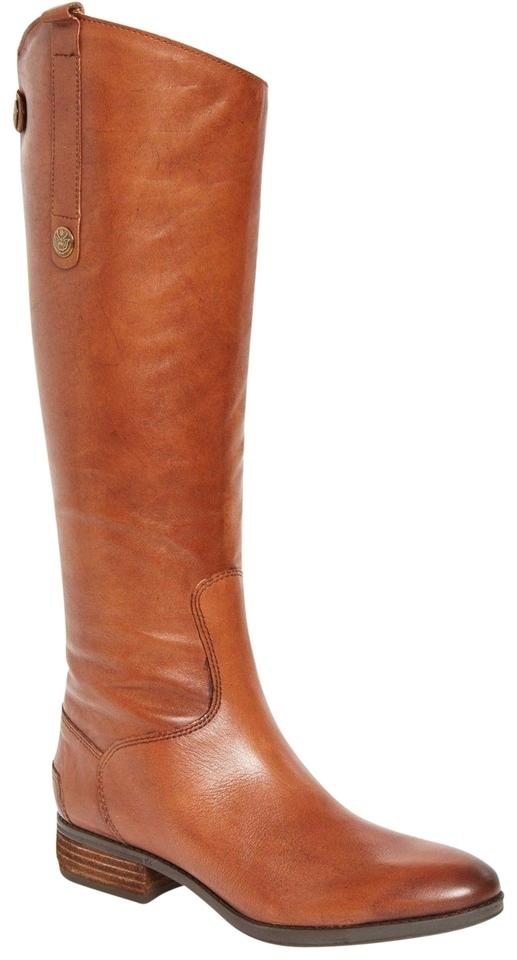 2f58d2d9eb167c Sam Edelman Brown Penny Whiskey Leather Riding Calf Boots Booties ...