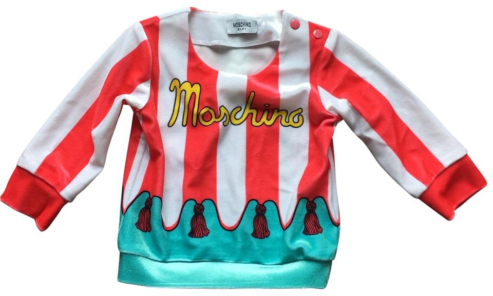 4473f9e16 Moschino Baby Velvet Striped Pink Sweater - Tradesy