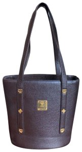 MCM Leather Gucci Louis Vuitton Tote in Chocolate Brown