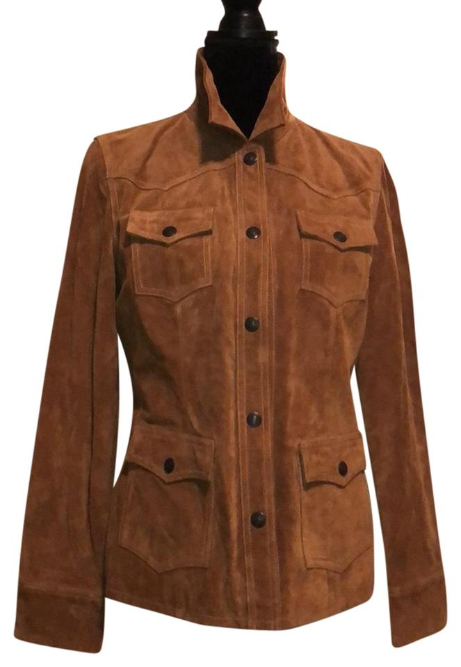 7d2dffef1 Gap Rust New Suede Military/Safari Style Jacket Size 8 (M) 73% off retail