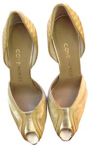 Coye Nokes Gold Pumps