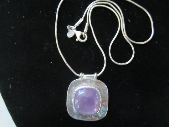 Beit Nir Sterling Silver Boho Necklace with Lilac Stone, Beit Nir Vintage Image 3