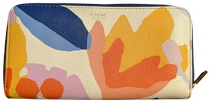 Fossil Floral leather