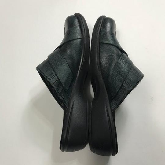 Clarks Leather Buckle Black Mules Image 6